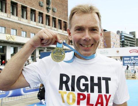 SLITER: Kjetil Sælid hadde grunn til å være fornøyd etter at han hadde satt ny bestenotering i Oslo. Foto: Svein Halvor Moe