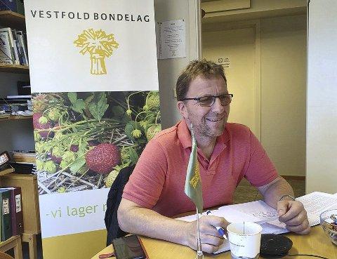 Skal lese nøye: Thorleif Müller, leder i Vestfold Bondelag, sier han må lese meldinga nøye, og se hva som ligger i den. Arkivfoto: Vestfold Bondelag