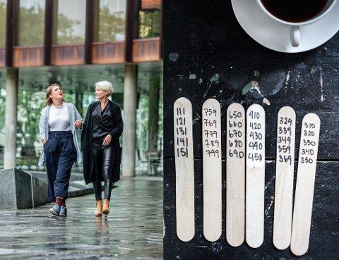 Trude Vaaga (til h.) lovar både design og basar i Grieghallen 21. - 23. september.