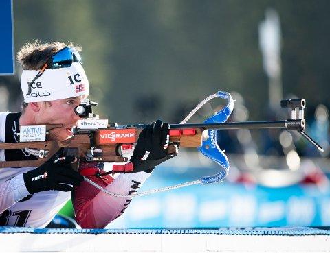 SJETTEPLASS: Erlend Øvereng skjøt 20 treff og ble sjettemann på jaktstarten i Finland etter å ha gått seg opp 19. plasser. Foto: Berit Roald / NTB scanpix