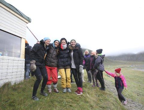 Damefinalistene: Fra venstre. Nora Kvalsvik, Elisa Strand, Katrine Fjelltun-Larsen og Ragnhild Pedersen. Foto: Ole Kristian Larsen