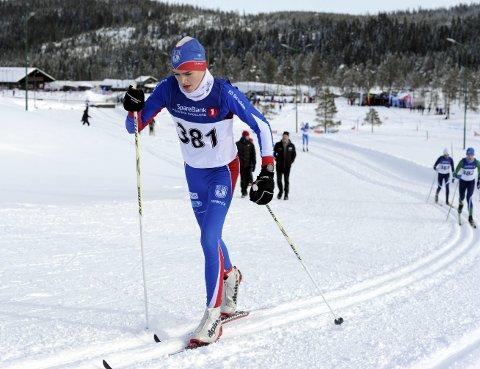DEBUTERTE: Håkon Tønseth fikk gode gjennomkjøringer under Hovedlandsrennet på Lygna. Foto: Svein Halvor Moe