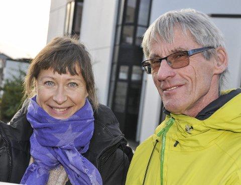 :Laura Johanne Olsen og Gunnar Aarstein.Arkivfoto