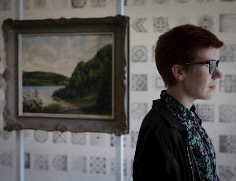 Fra Finland: Minna L. Henriksson synes rommene på Galleri F15 binder kunst og natur fint sammen.
