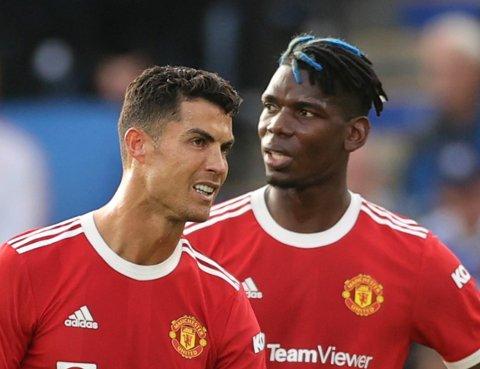 FÅR SLAKT: Paul Pogba og Cristiano Ronaldo leverte en svært svak prestasjon lørdag.