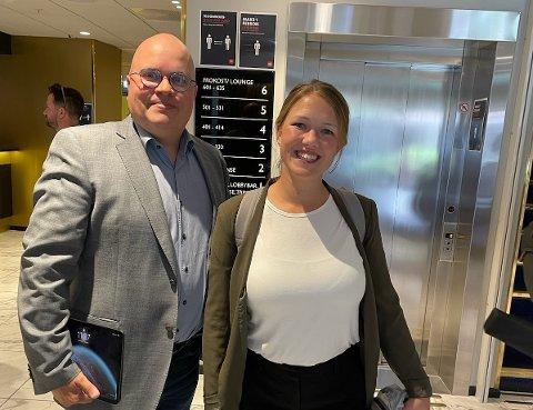 SKIFTER BEITE: Hans Petter Strifeldt meldte seg nylig inn i MDG Nordre Follo. Her sammen med førstekandidat for MDG i Viken, Une Bastholm.