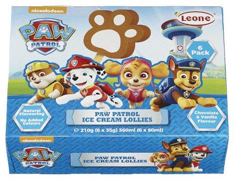 Geia Food tilbakekaller Paw Patrol iskrem.