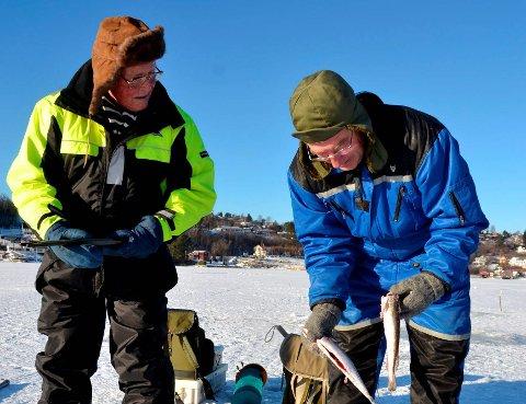 Idyll: Isfiske er viktig for folkehelsa. Her ser vi et bilde fra Eidangerfjorden tatt for noen år siden. Illustrasjonsfoto