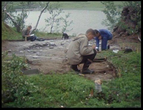 Utgravinger arkeologi Rana-unersøkelsen fra 1960 til 1969 av Fredrik Gaustad