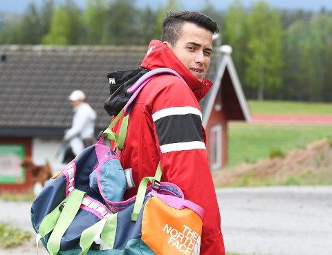 MÅTTE GI SEG I NM: Oliver Engen klarte ikke å fullføre mer enn tre øvelser på Furumo.