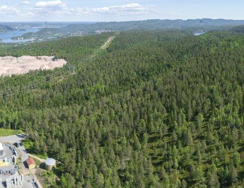UTVIDER: Utvidelsen av Røyken Næringspark med 450 mål møter motstand.