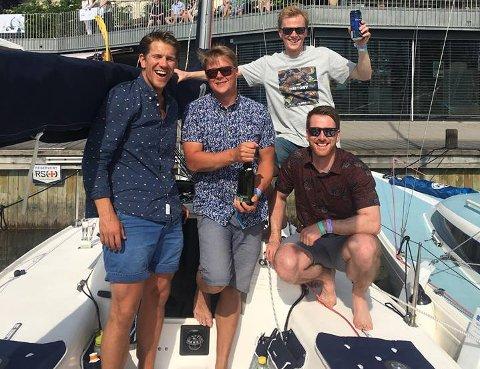 SEIER IGJEN: fv: Mathias Mannermaa, Daniel Ingebretsen, Sigve Sund og Magnus Mannermaa.