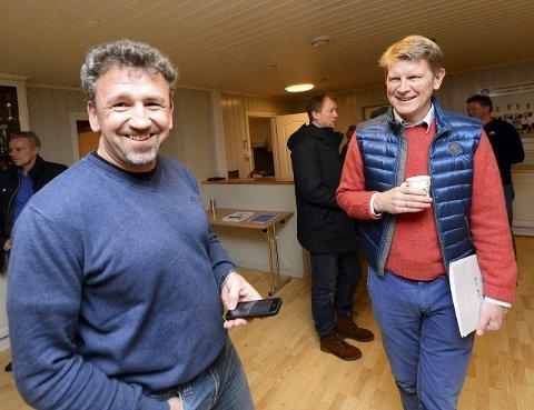 Valgkomiteens leder Johan Mareno Teiseth (til høyre) er glad Kjetil Bjerkestrand har sagt ja til å være konstituert leder i KBK: