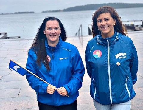 Renate Soleim (til høyre) er ny kvinnepolitisk leder i Møre og Romsdal Høyre. Her sammen med fylkesleder Monica Molvær.