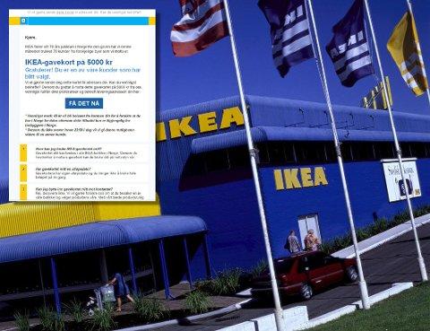 LURERI: IKEA advarer mot slike eposter.