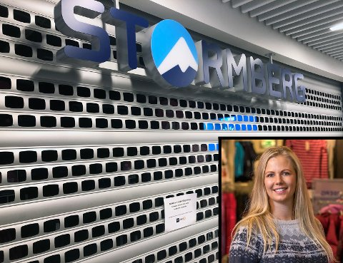 STENGT PERMANENT: Kommunikasjonssjef i Stormberg, Ida Kristine Moe, bekrefter at butikken deres på Amfi Raufoss ikke kommer til å åpne igjen.