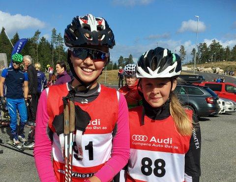 TO I SAMME KLASSE: Både Gudrun Fidje Gryting (t.v.) og Thea Nordheim-Dalane gikk KM i 14-årsklassen.