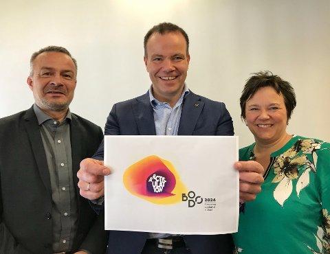 Enige: Willy Ørnebakk (t.v), Tomas Norvoll og Ragnhild Vassvik står samlet bak prestisjeprosjektet til Bodø og Nordland.
