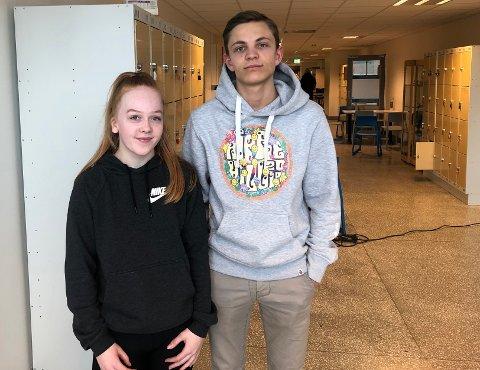 Forberedt: Ungdommene Aurora Eilertsen og Morten Lorentzen-Albrigtsen var klare over prisen på førerkortet.