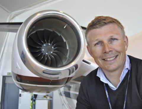 OPTIMIST: Daglig leder og eier Geir Hellsten i Bergen Air Transport måtte gå inn med over fire millioner kroner i ny kapital selskapet tidligere i år, men er optimistisk med tanke på fremtiden. ARKIVFOTO: SVEIN TORE HAVRE