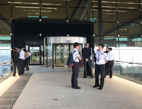 Den nye terminalen ble evakuert i en drøy halvtime onsdag formiddag.