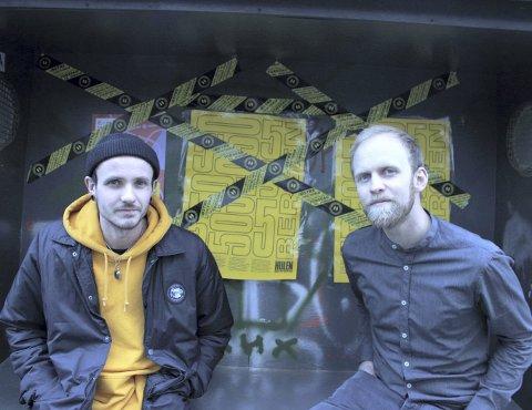 Jomfruturen: For første gang skal Christer Dyngeland (t.v.) og Daniel Matthiesen arrangere musikkfestival. FOTO: KRISTOFFER WESTERGAARD