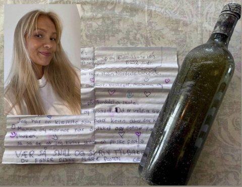 Etter 13 år dukket Malins flaskepost opp: – Mye har forandret seg på de årene, sier hun til BA.