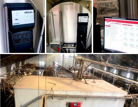 MODERNE GÅRDSTEKNOLOGI KREVER NETT: Melketank, melkerobot og elektronisk fjøs-system er blant annet det som befinner seg på gården til Kristine Emily Sporsheim i Bjerkreim.