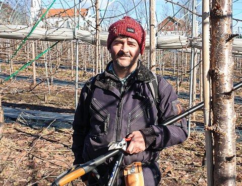 Mohammad Zaher Adel Abbous, ansatt hos Ekeberg Myhrene AS, som har hjulpet med å skaffe syriske arbeidere.