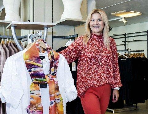 SLUTT: Gro Gajda flyttet sin klesbutikk til Hokksund i 2018, og overtok Pop Corner. Nå er det slutt.