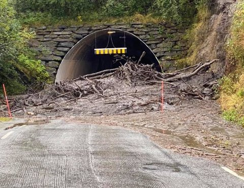 STENGT: Slik ser det ut ved Pollfjelltunnelen.
