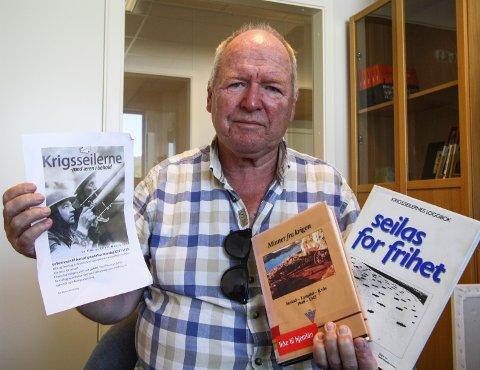 TEMAMØTE: Leder i Austad historielag, Arne Lervik satser på mye folk til temamøtet om krigsseilerne.