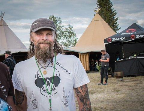 ET ÅR AV GANGEN: Jan Bjørnar Totsås har skapt en populær festival i villmarken. I år er det femårsjubileum, når Totsåsrock arrangeres 30.-31. juli. FOTO: Tor Martin Årseth