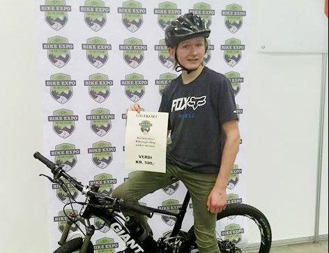 FERSK NORGESMESTER: Jonas Buerødegård Mikalsen (12) vant NM i bakhjulssykling.