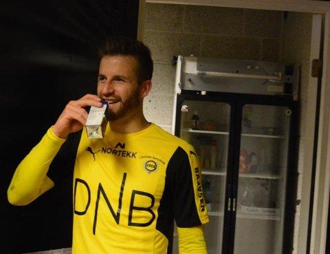 Ble helten: Aleksander Melgalvis kunne igjen smile etter å ha sørget for poengdeling på Åråsen.