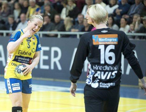Til Skedsmohallen: Storhamar, med Heidi Løke i stallen, gjester Lillestrøm onsdag. Foto: NTB scanpix