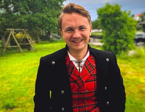KOMMER TILBAKE: Audun Movinkel Juul (21) trives i Oslo, men vil returnere til Sandefjord igjen etter endt studenttid i hovedstaden. – Drømmen er å jobbe for enten Jotun i Sandefjord, eller for Direktoratet for samfunnssikkerhet og beredskap (DSB) i Tønsberg, sier han.
