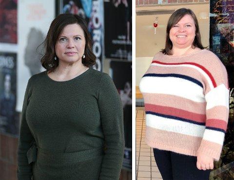 Elisabeth Dahl fotografert 5. februar 2021, og til høyre 11. januar 2019. Ganske nøyaktig to å skiller bildene.