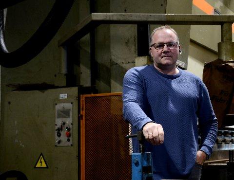 KATASTROFE: Daglig leder Håvard Tangstad på Folla Tech i Follafoss bruker ord som katastrofe om arbeidsgiveravgiften blir økt til Steinkjer-nivå.