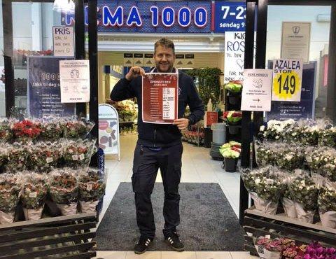 DØGNÅPENT: Rema 1000 på Heistad holder butikken døgnåpent de siste dagene før jul. Foto: Privat