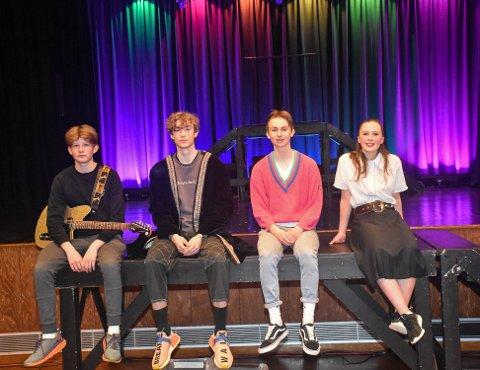 Torkel Hasselø Lygre, Aleksander Leithe, Gaute Haga Solhaug og Frida Fredly Hellesfjord var spente før torsdagens premiere