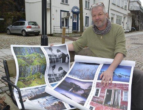 Snart kommer boka: Erik Garaventa gir ut boka om Sandøya på sitt eget forlag, Bangarang! Han har også tatt bildene i boka og står for visuell design. Boka er en kjærlighetserklæring til Sandøya. Foto: Frode Gustavsen