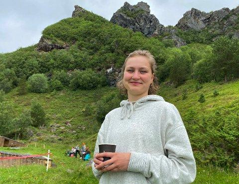 Drømmer: Tora Alida Reinholdtsen får leve ut  noen av drømmene sine under de ville fjellene på historiske Vollmoen.