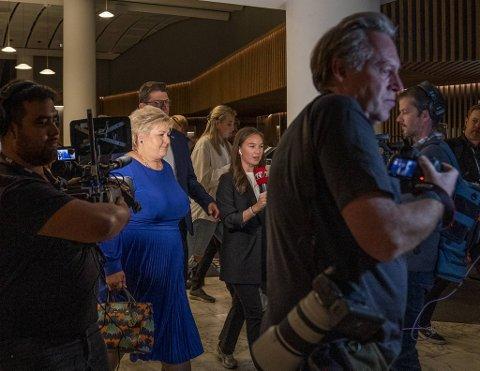Erna Solberg går inn i sine siste dager som regjeringssjef.