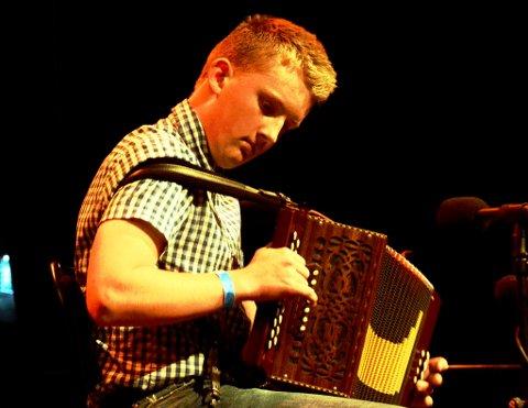 DOBBELT: Even Offerdal Bakken (15) frå Lom vann både solo durspel junior og solo andre instrument junior.