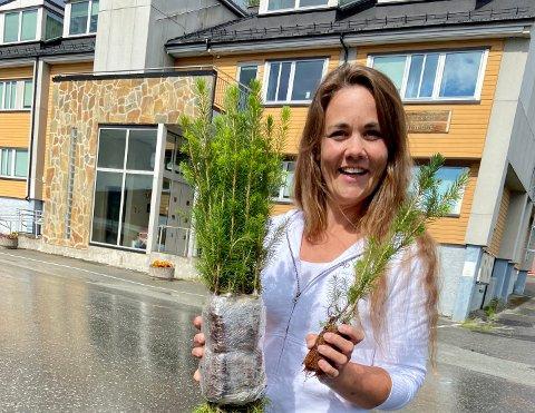 Stortingskandidat Trine Fagervik (Sp) fra Leirfjord er opptatt av at det skal kunne drives et aktivt skogbruk på Helgeland.