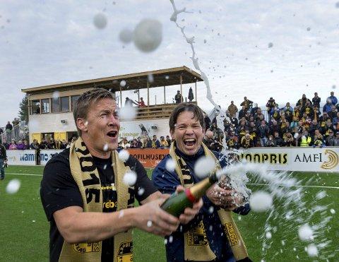 FORTSETTER: Espen Haug er glad for at Kai Erik Moen fortsetter i trenerteamet også kommende sesong.Arkivbilde