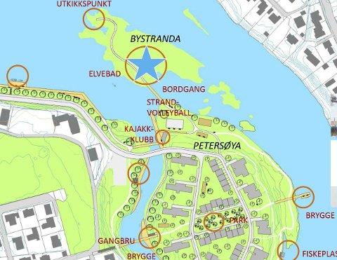 – Sammenhengende gang og sykkelveier langs elvene er et ønskemål, sier Arne Broberg.