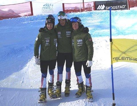 NM-SØLV: Amund Møster Haugen kunne juble i bakken lørdag etter at han tok sølv i NM på Åndalsnes.