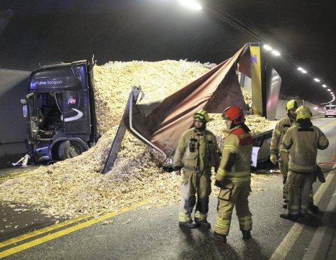 OMKOM: En kvinne i 50-årene fra Østfold omkom i front-mot-front-ulykke i Oslofjordtunnelen i midten av januar i år.